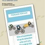Read more about the article La Pedalada Popular, l'acte central de la Setmana de la Mobilitat a Cunit