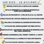 """Read more about the article """"100 dies de mandat – 10 accions"""", primer balanç de govern"""