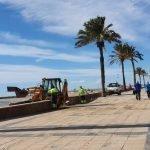 Read more about the article Iniciats els treballs de retirada de la sorra del Passeig Marítim