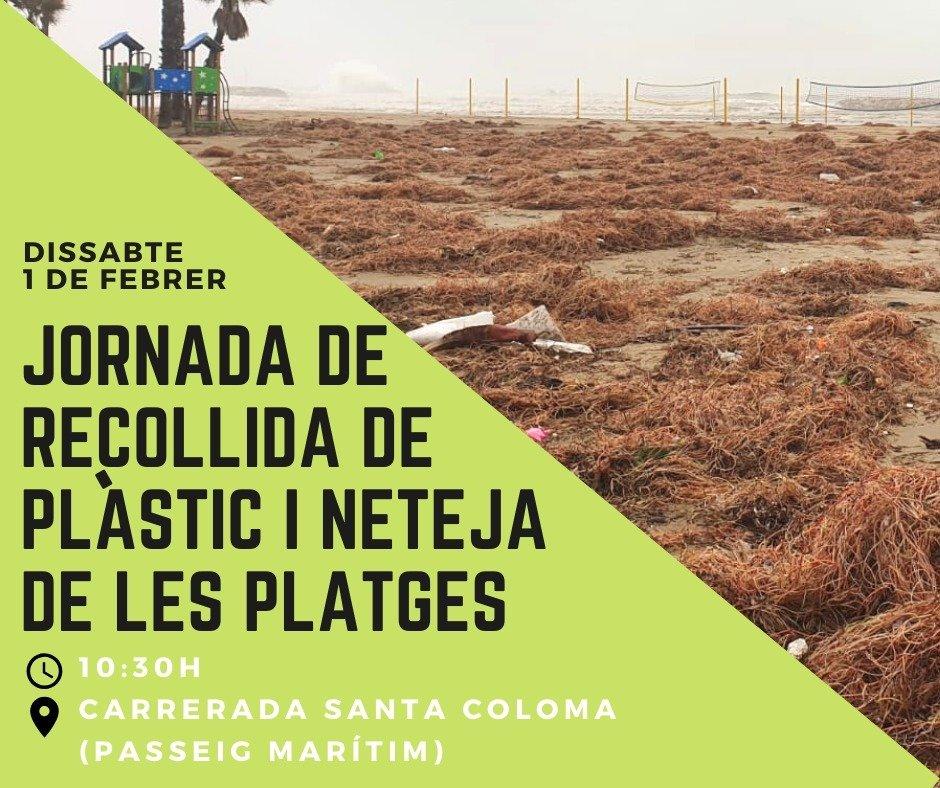 Read more about the article Jornada de recollida de plàstics a la platja