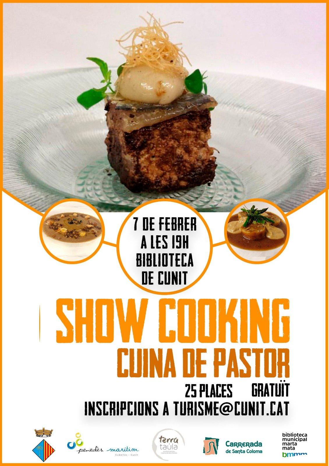 La primera experiència de 'Show cooking' a Cunit recrea la Cuina de Pastor
