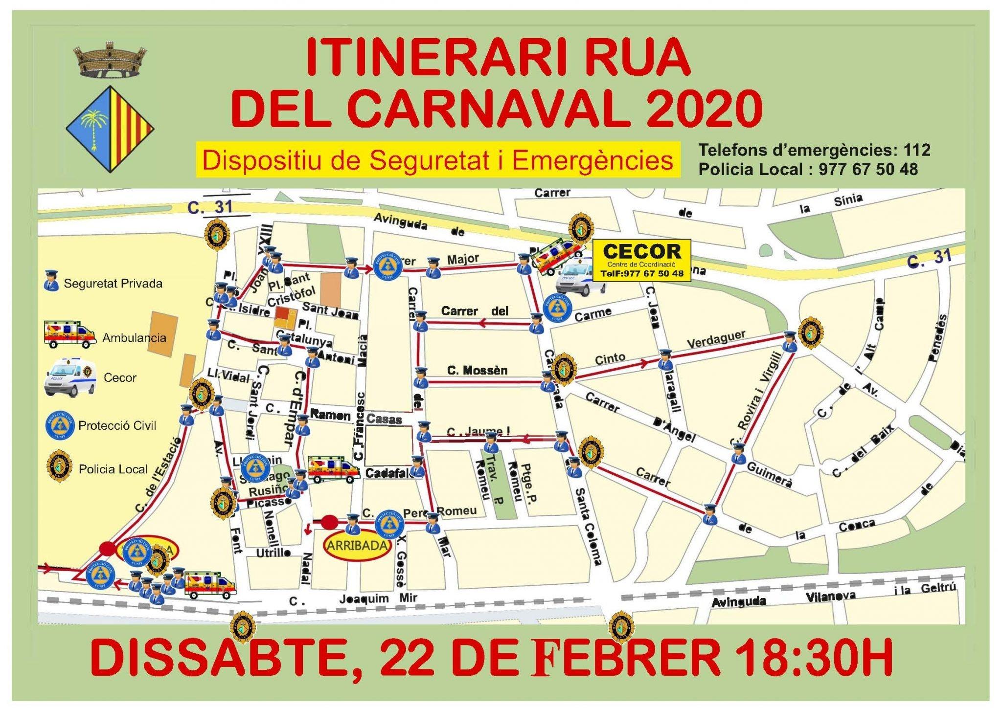 Dispositiu de Seguretat per la Rua de Carnaval