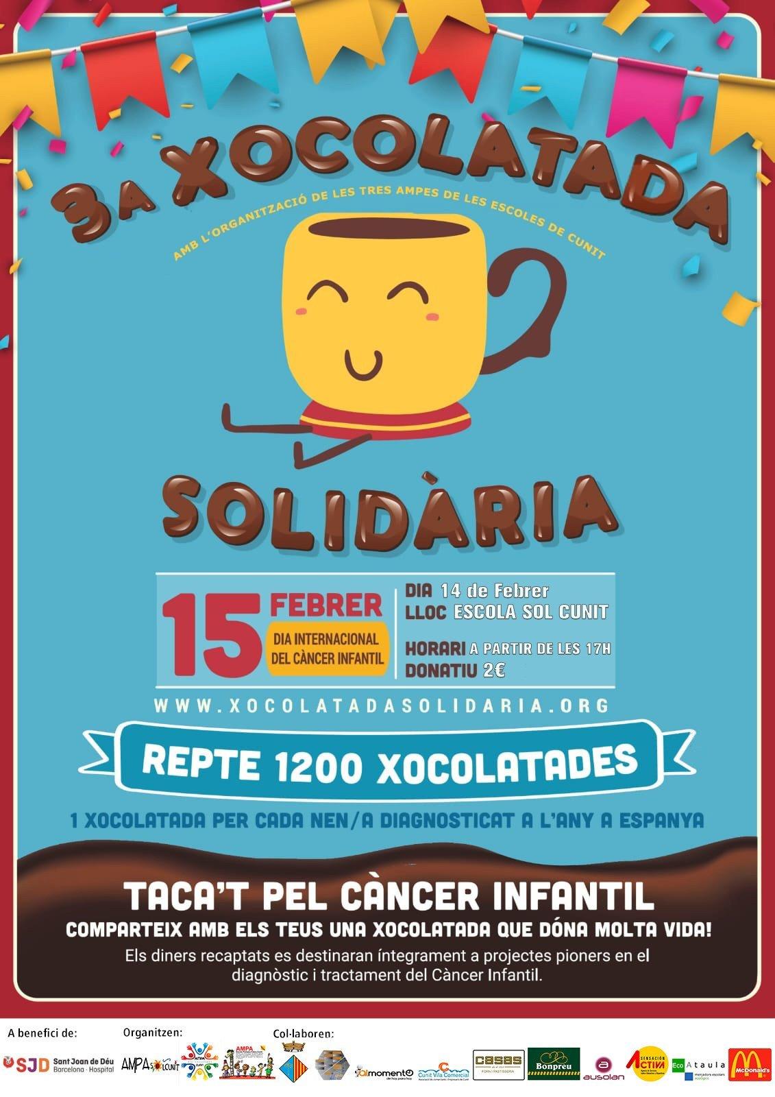 Read more about the article Les AMPA organitzen la 3ª edició de la xocolatada solidària per recaptar fons