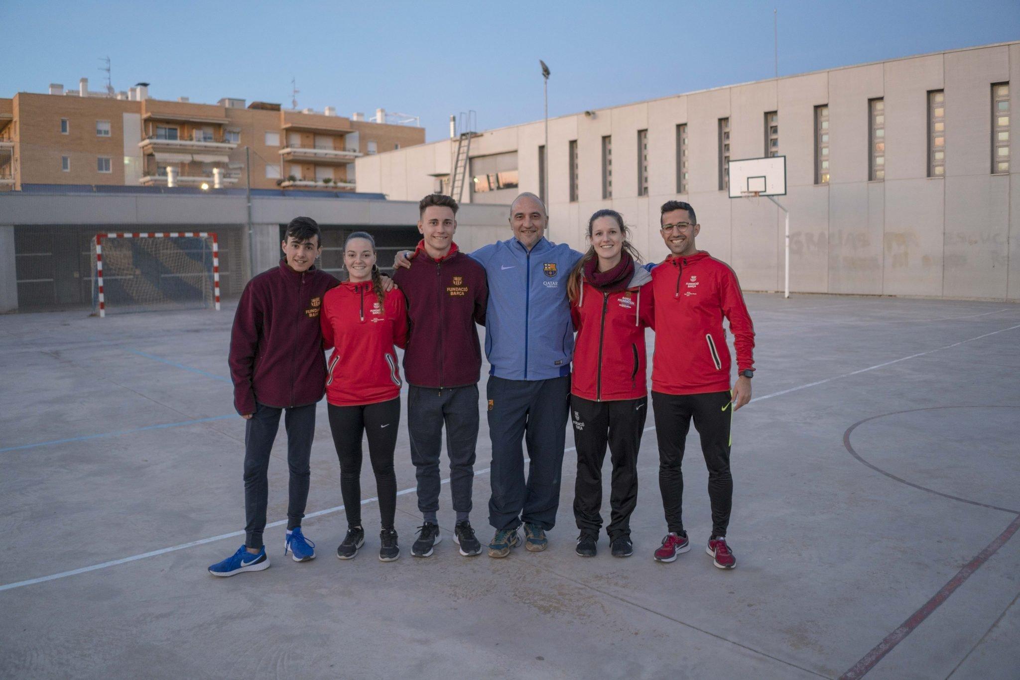 Una tarda de valors amb FutbolNet i amb l'ex jugador del Barça, Antoni Pinilla