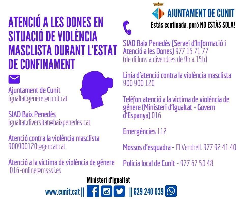 Recursos per situacions de violència de gènere