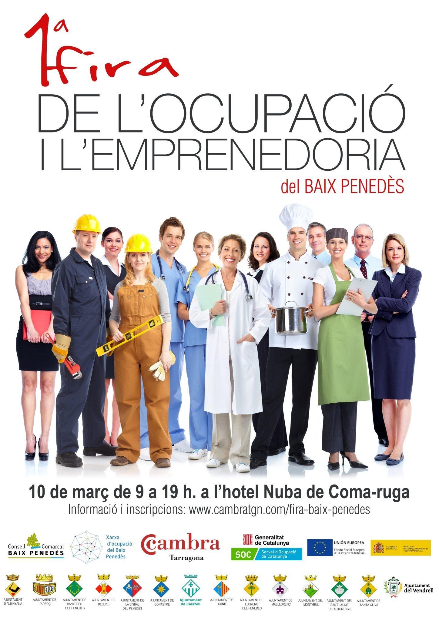 Read more about the article 1a Fira de l'Ocupació i l'Emprenedoria del Baix Penedès