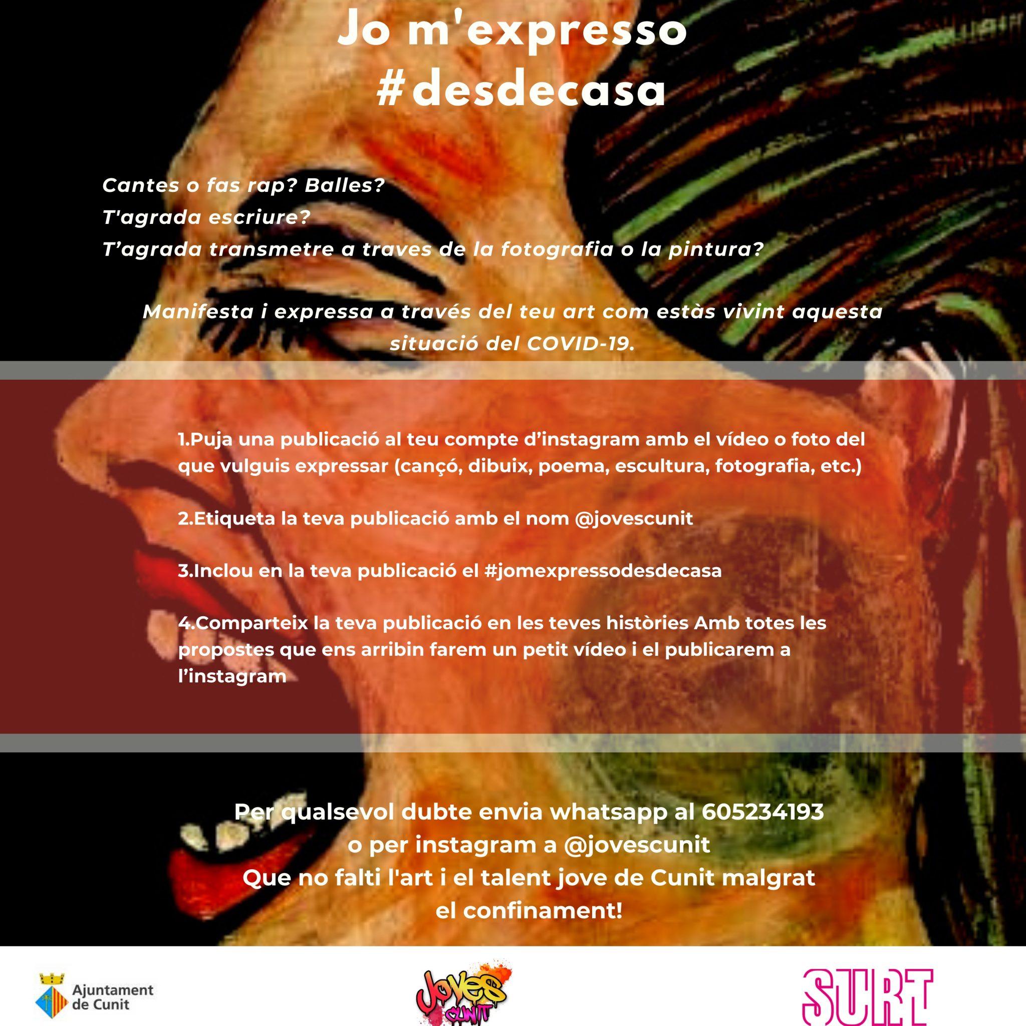 Jo m'expresso #desdecasa!