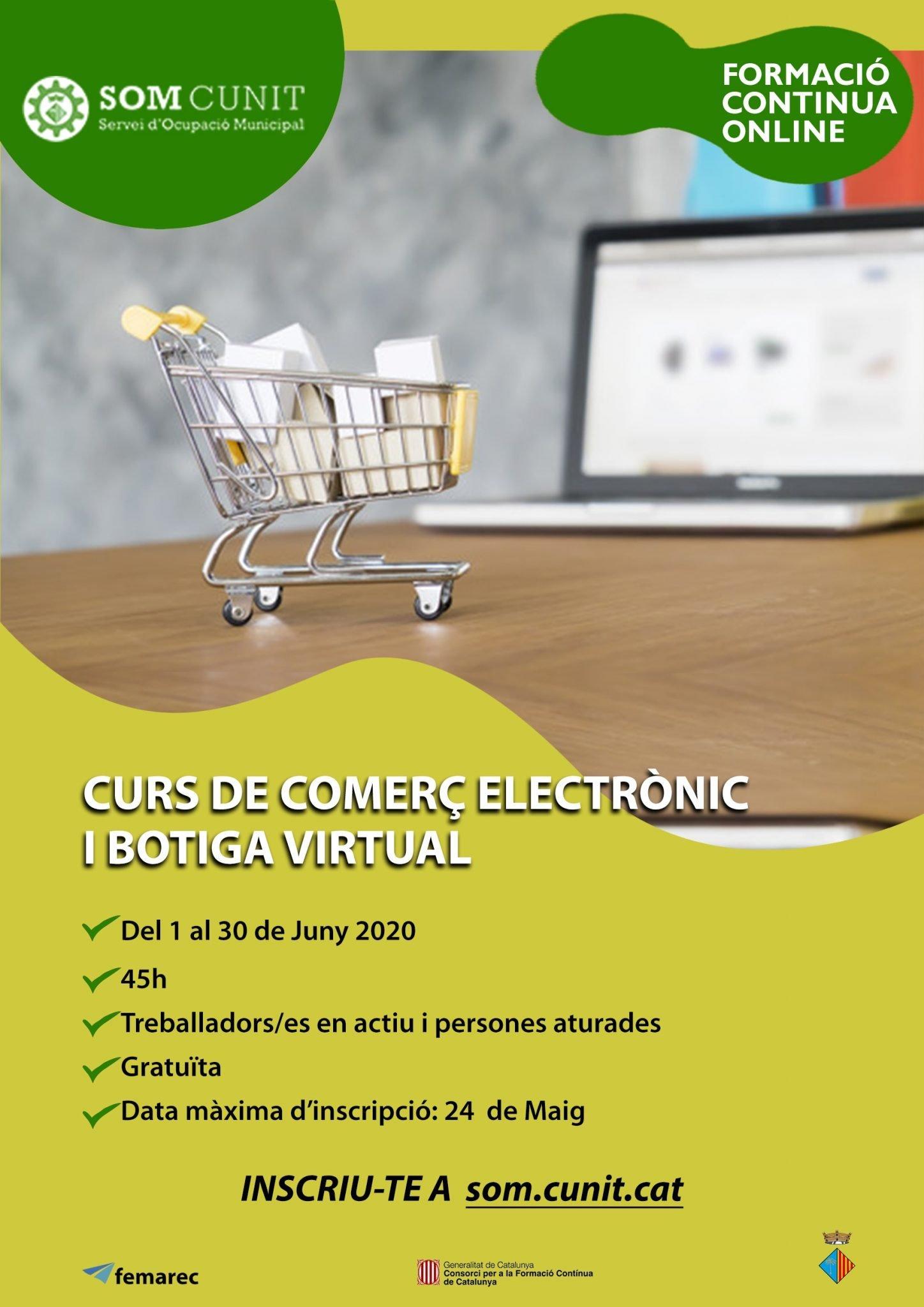 Obert el període d'inscripció de: Comerç electrònic i botiga virtual (45h)