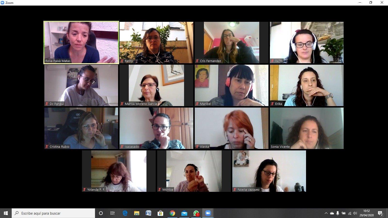 Les educadores de la Llar d'Infants El Trenet continuen la seva formació on line