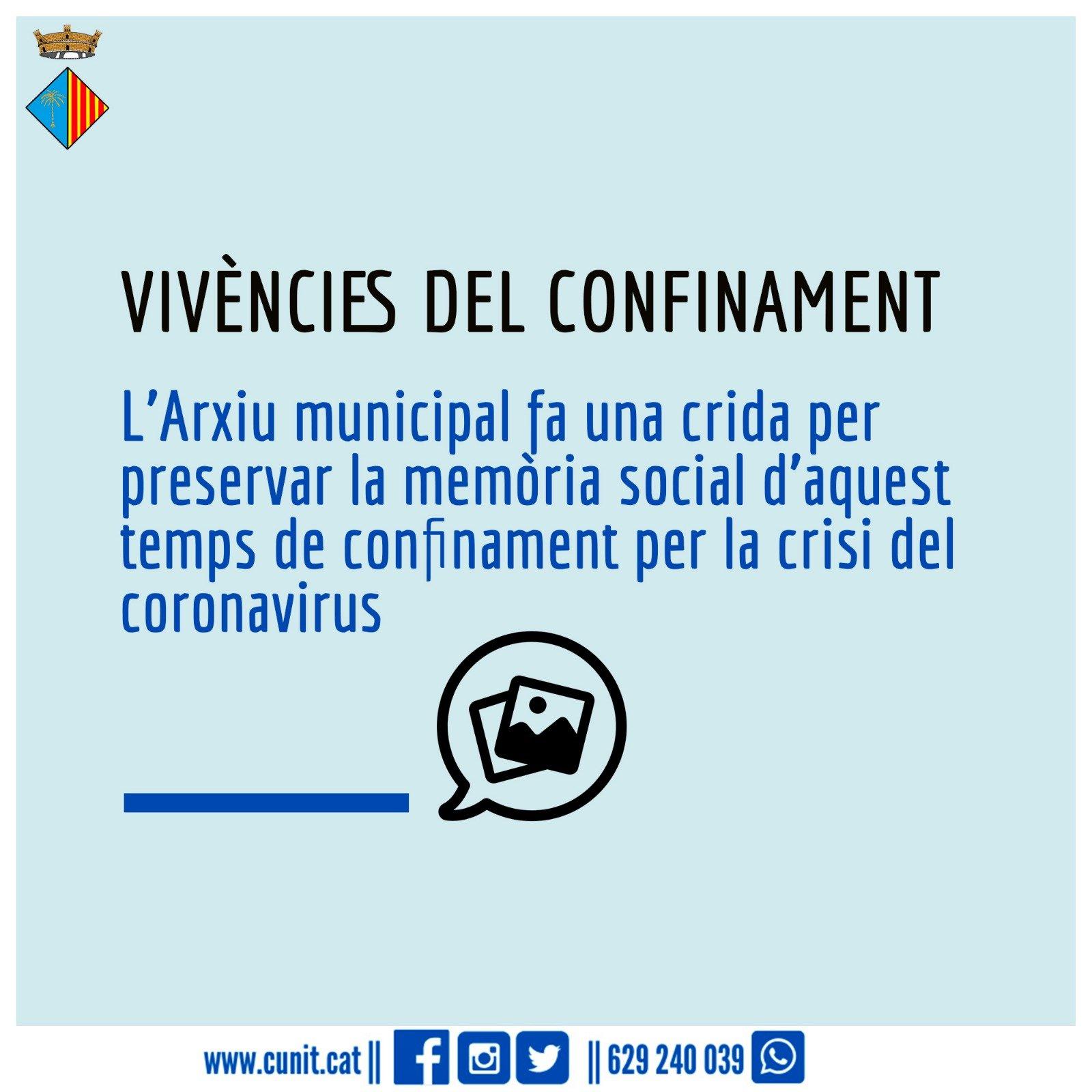 """""""Vivències d'un Confinament"""", iniciativa per preservar a memòria del temps de confinament"""