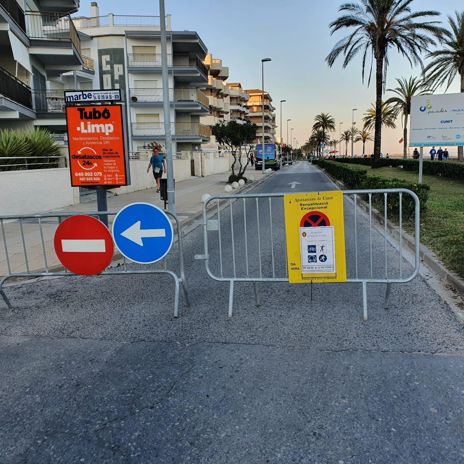 Es talla el trànsit rodat al Passeig Marítim per afavorir la mobilitat personal