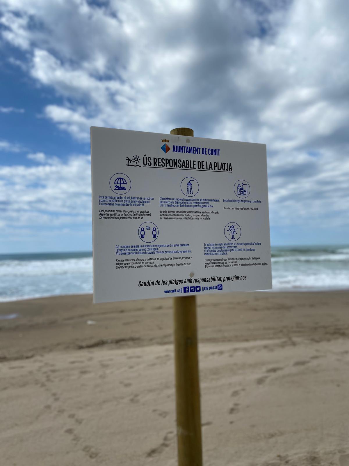 L'ajuntament de Cunit obrirà les platges el 15 de juny amb condicions especials