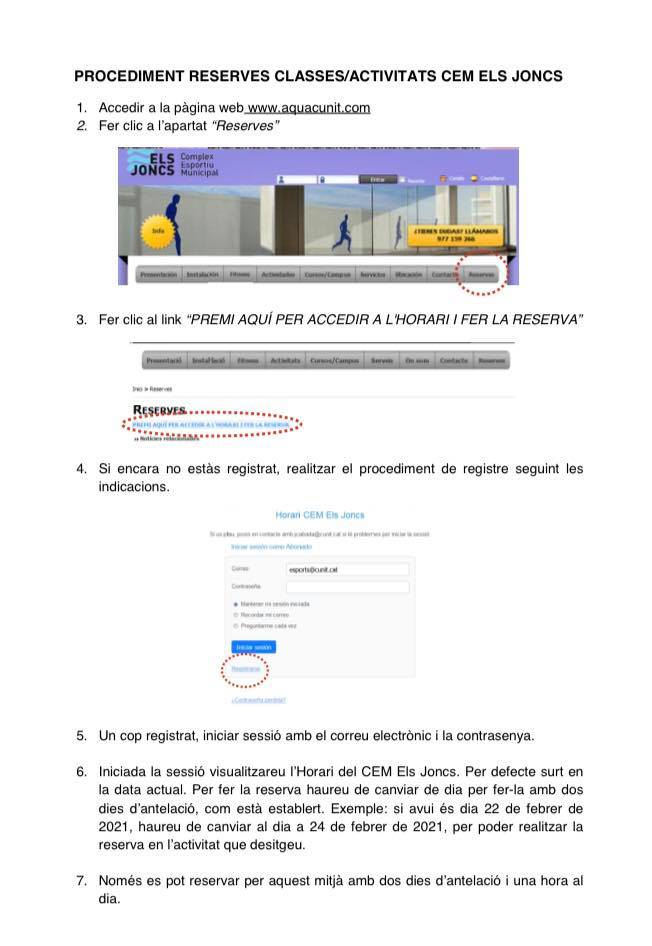 Read more about the article Nou servei de reserves online al CEM Els Joncs.