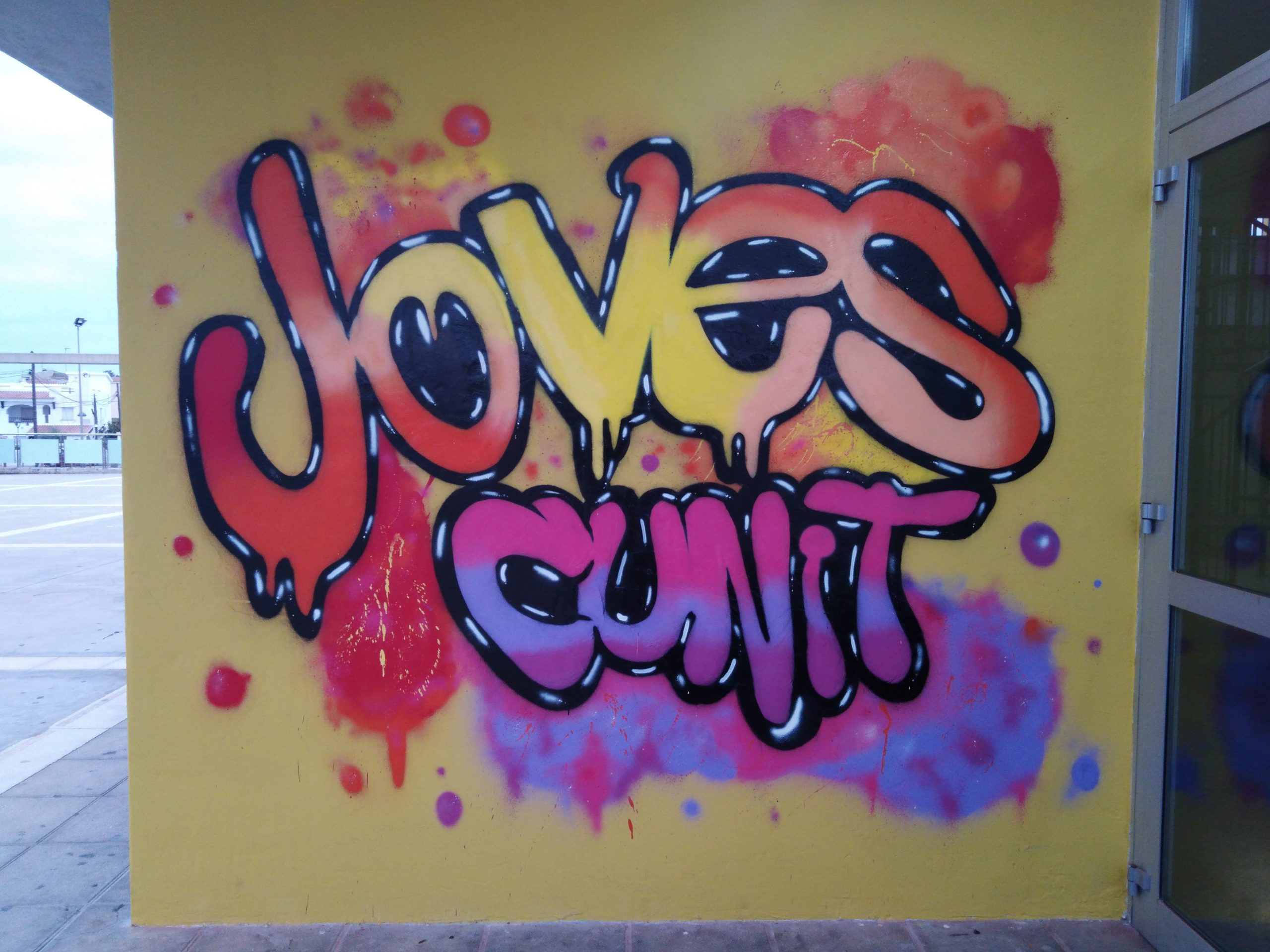 Taller de grafiti amb l'alumnat de la UEC de Cunit