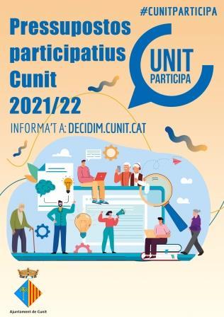 Segona edició dels Pressupostos Participatius a Cunit