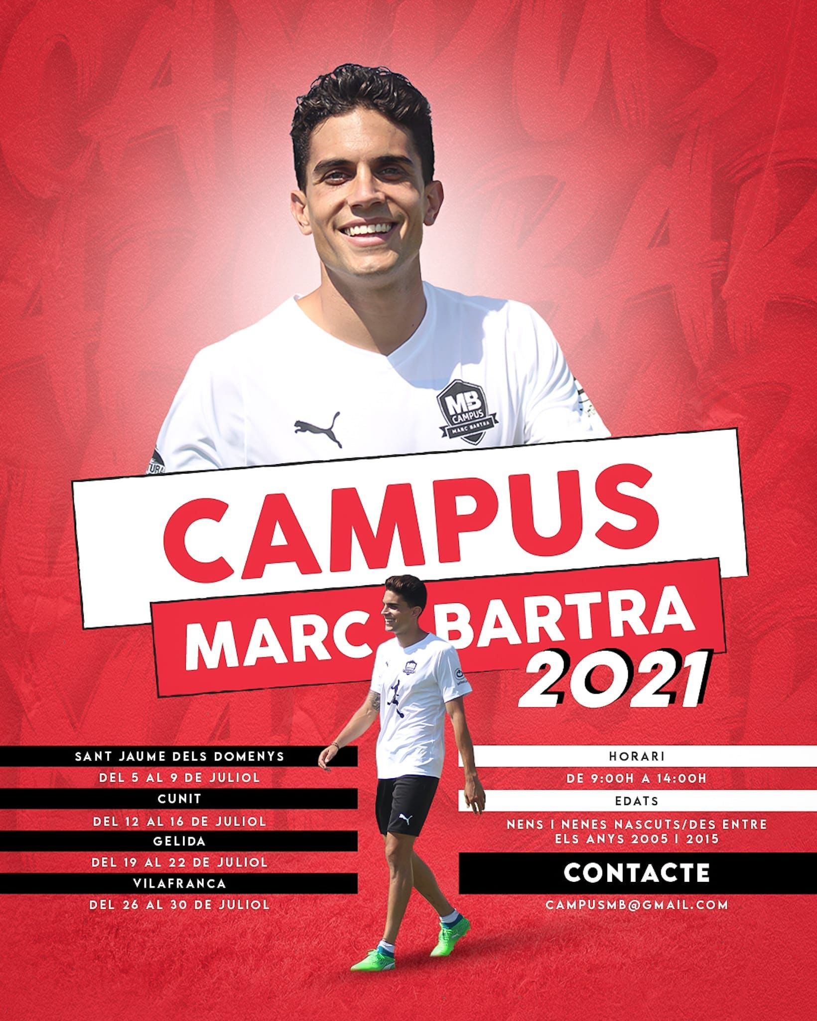 Campus d'Estiu del CFB Marc Bartra a Cunit