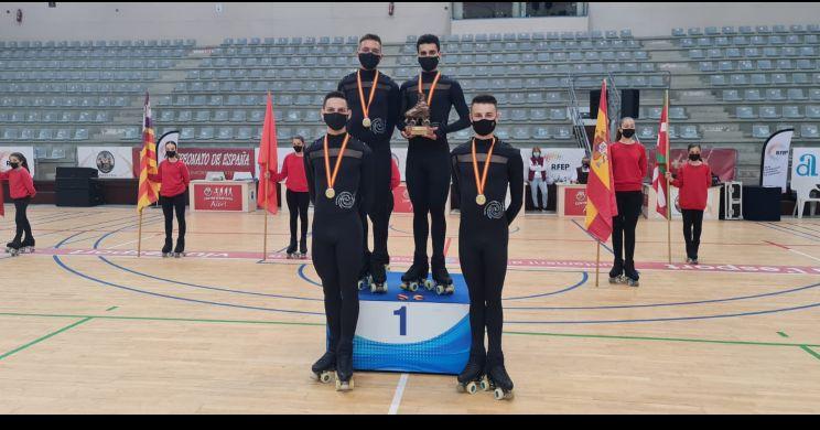 El Club Artistic Skating Cunit, nou Campió d'Espanya de 'Quartets' a Alcoi