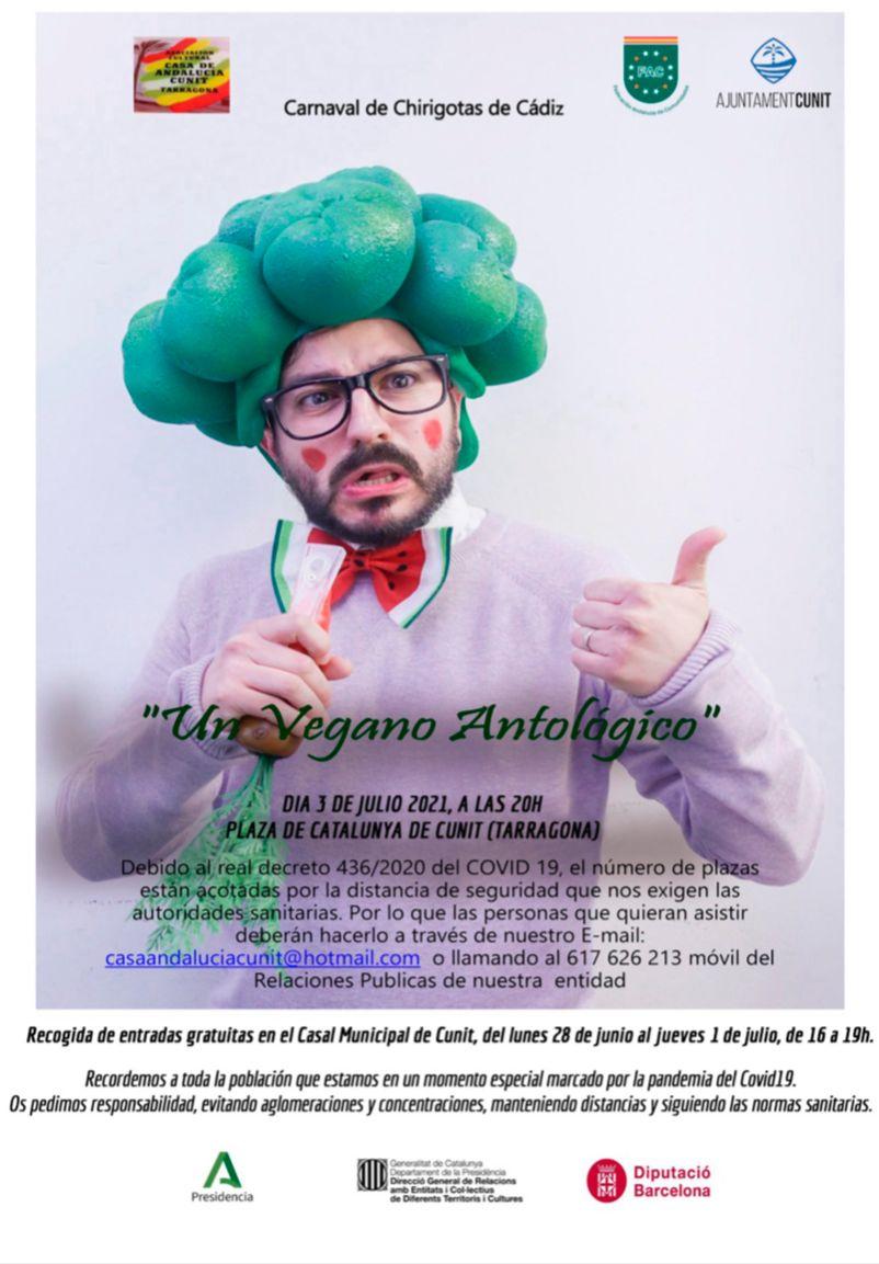 "Read more about the article Chirigotas de Cádiz presenten ""Un Vegano Antològico"""