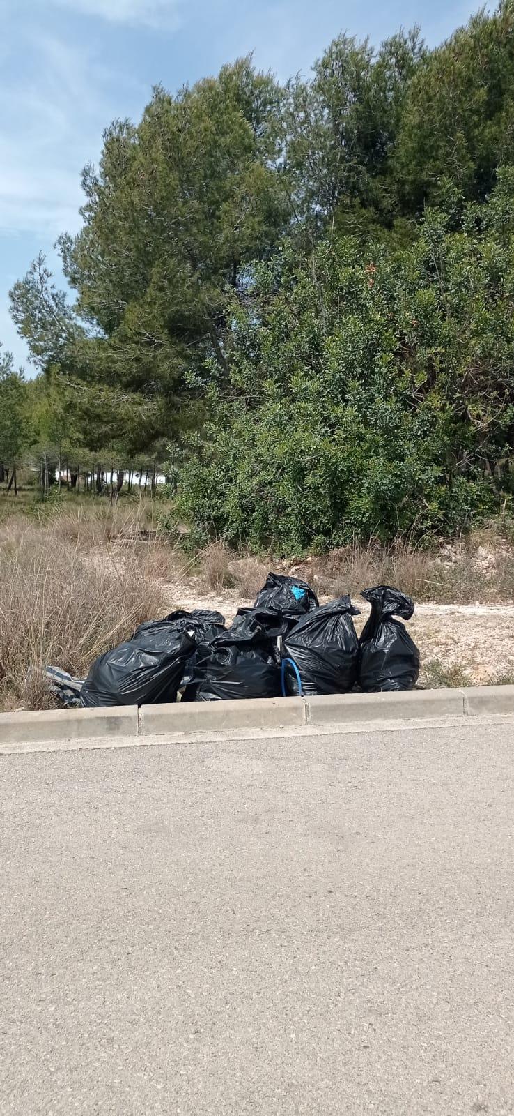 Read more about the article Campanya de neteja de residus a zones boscoses del municipi