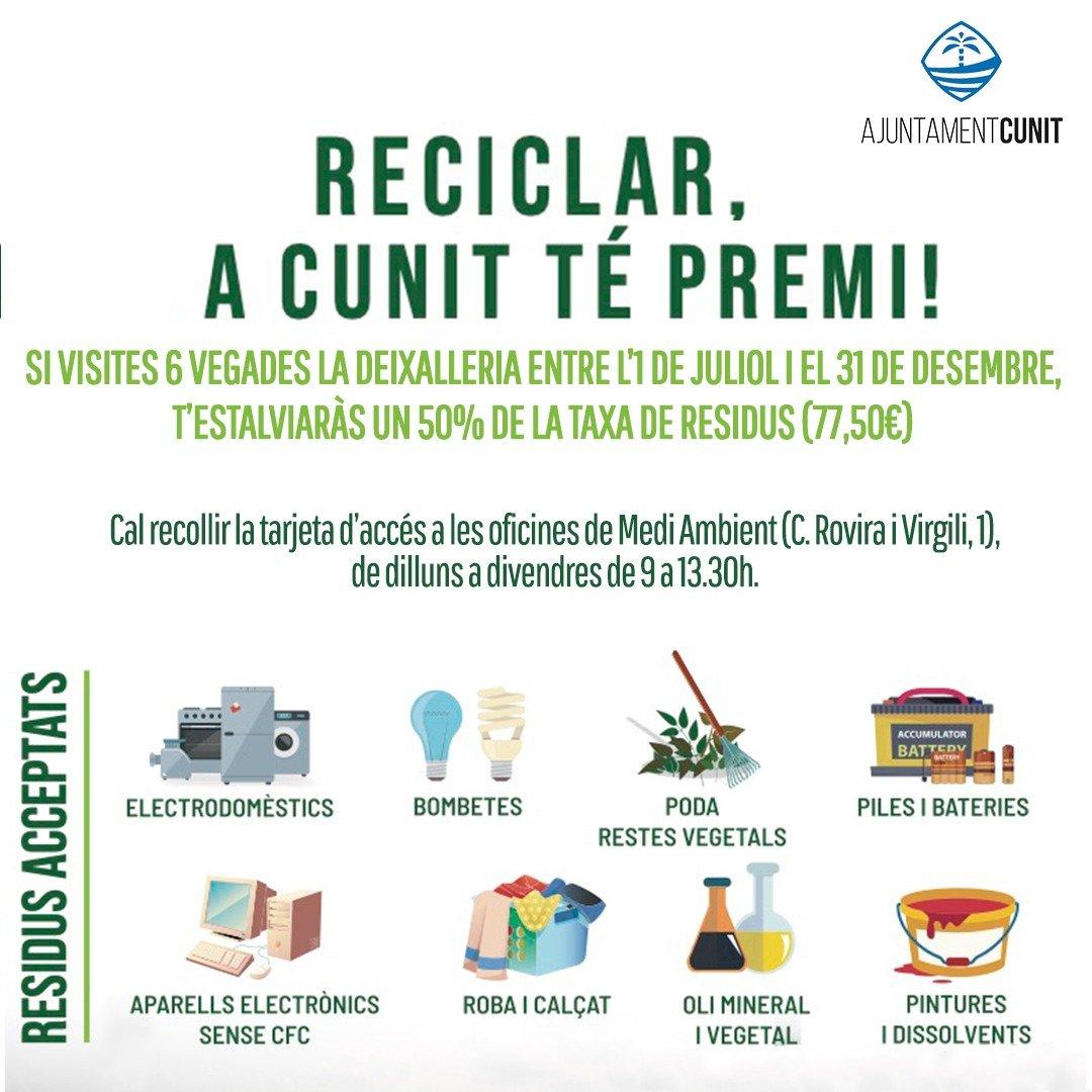 Read more about the article Avui comença la campanya de reciclatge per aconseguir reducció al rebut de la brossa