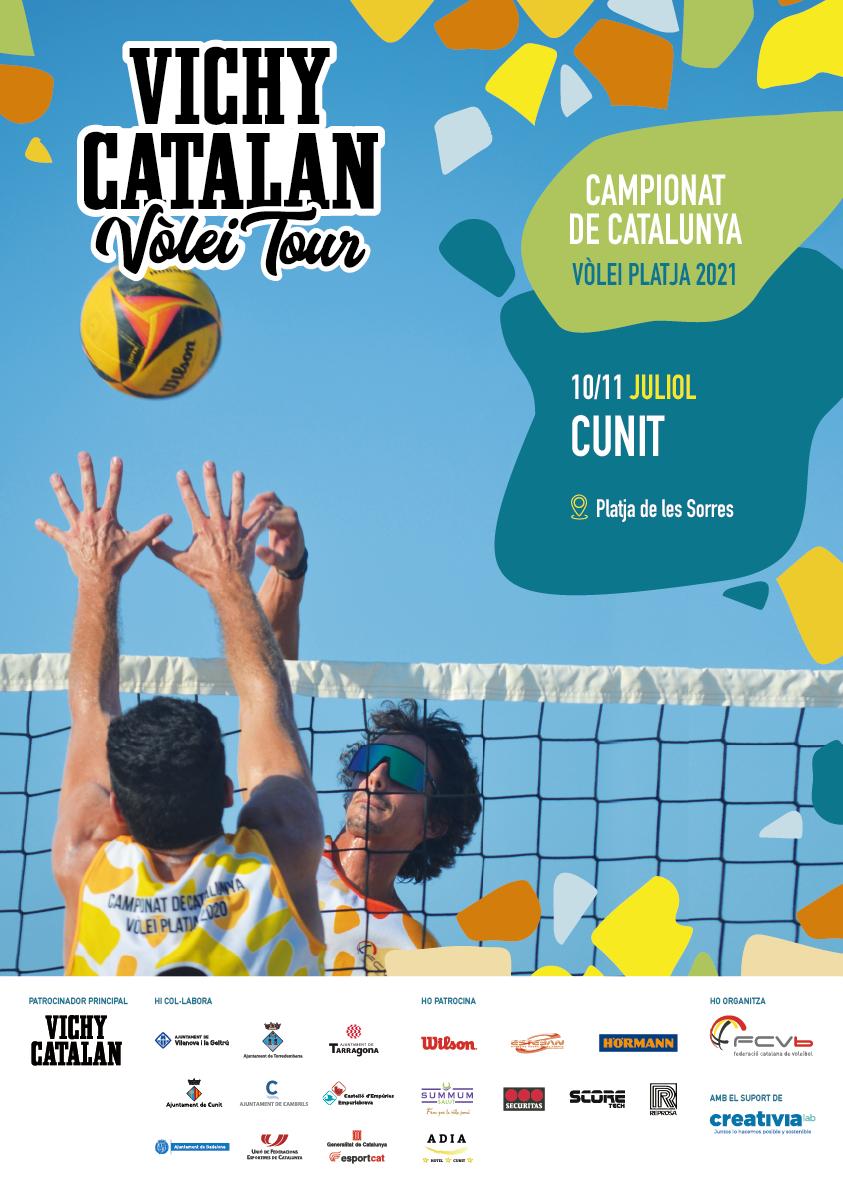 Read more about the article El Vichy Catalan Volei Tour torna a la sorra de Cunit
