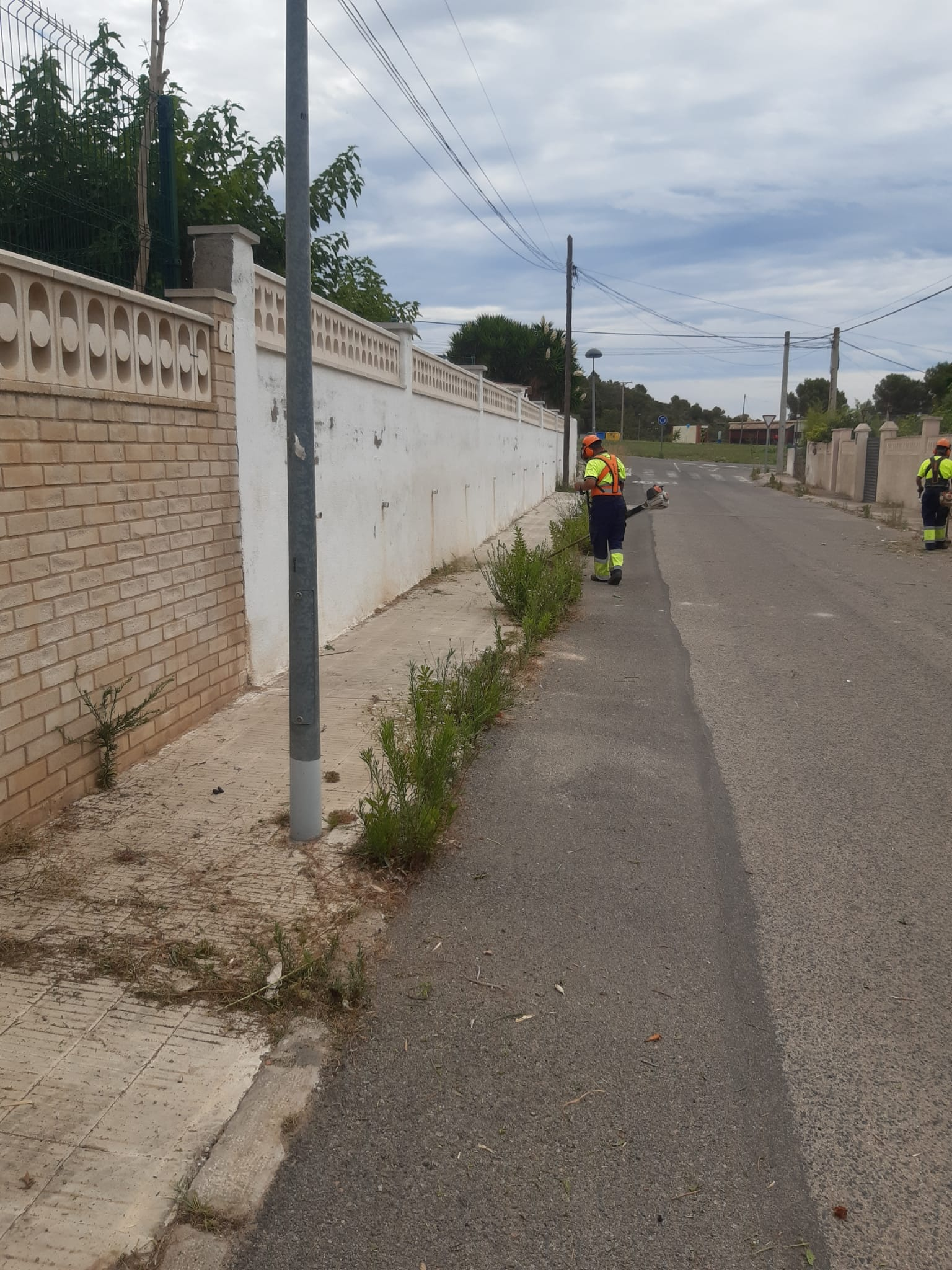 Continua l'eliminació d'herbes de forma mecànica arreu del municipi