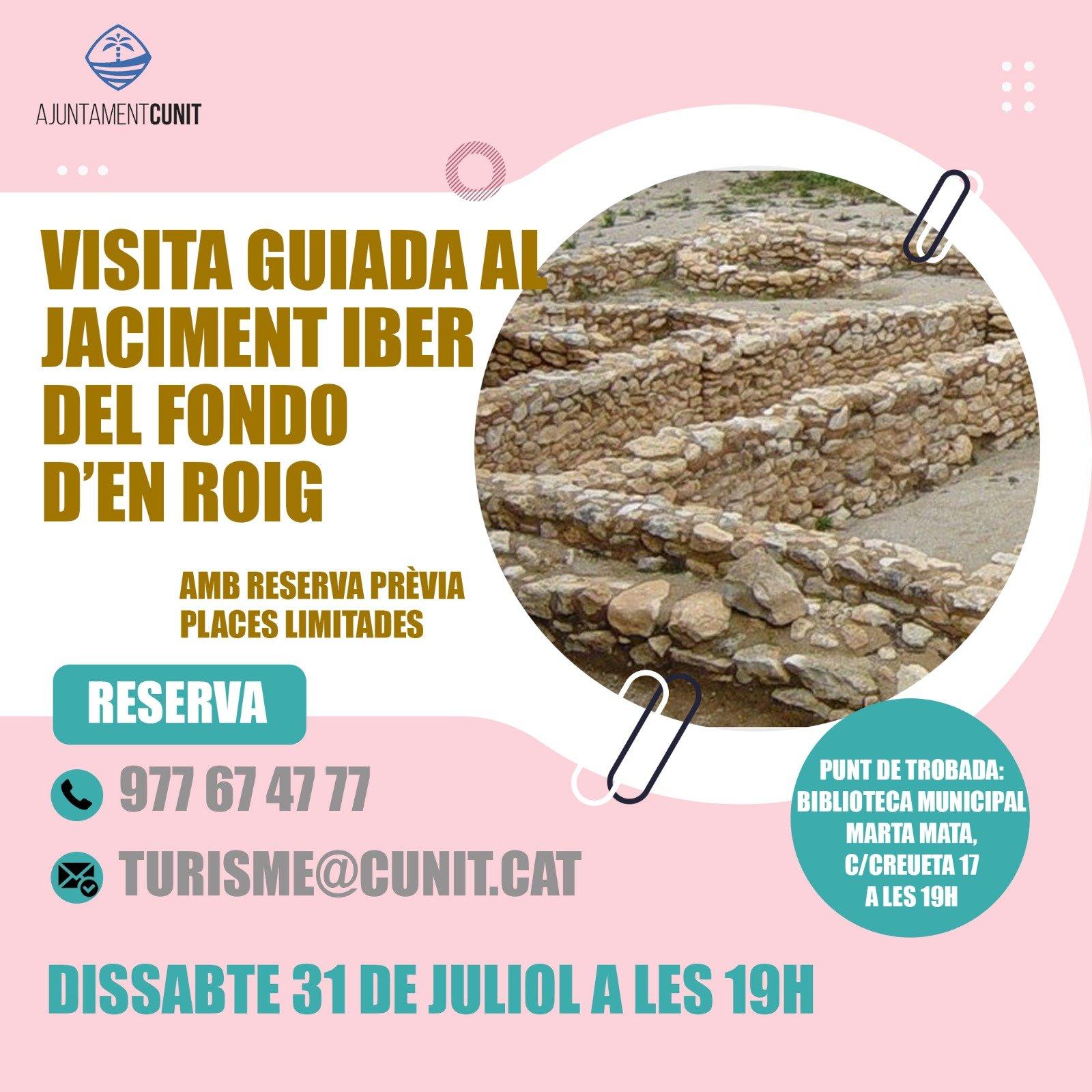 Visita guiada al jaciment iber del Fondo d'en Roig dissabte 31 de juliol