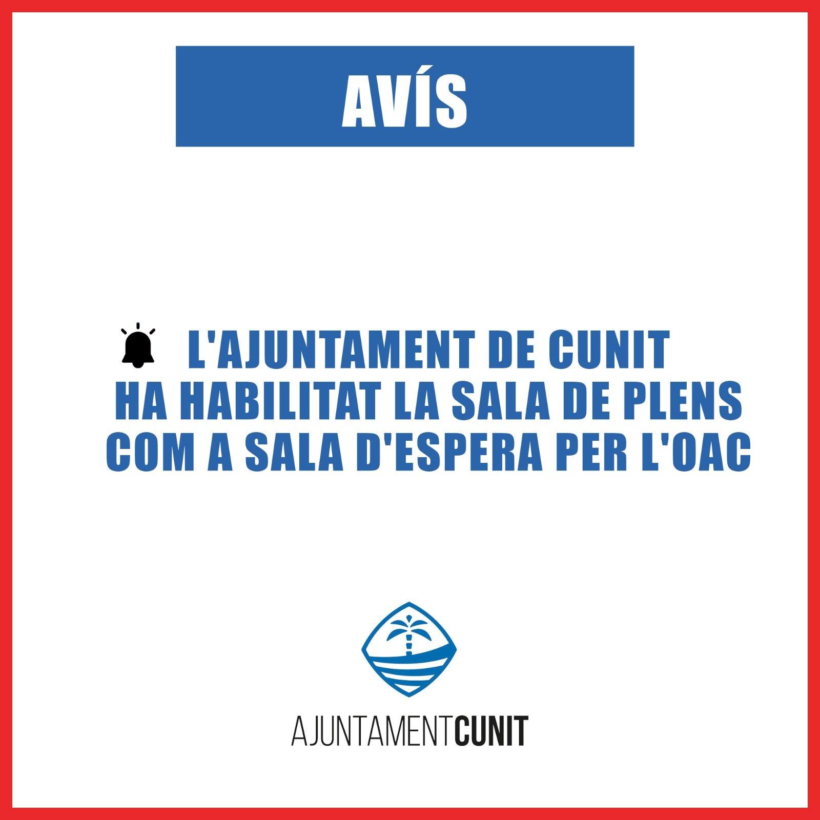 Read more about the article L'ajuntament habilita la Sala de Sessions com a sala d'espera