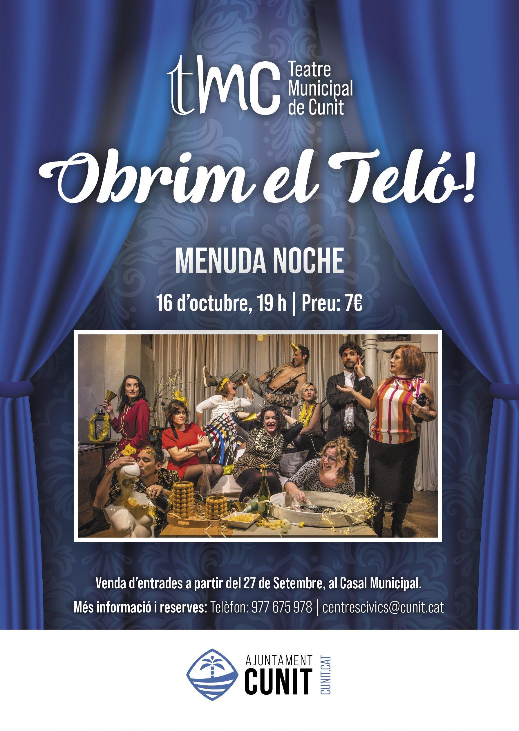 Read more about the article Venda d'entrades de l'obra de teatre 'Menuda Noche'