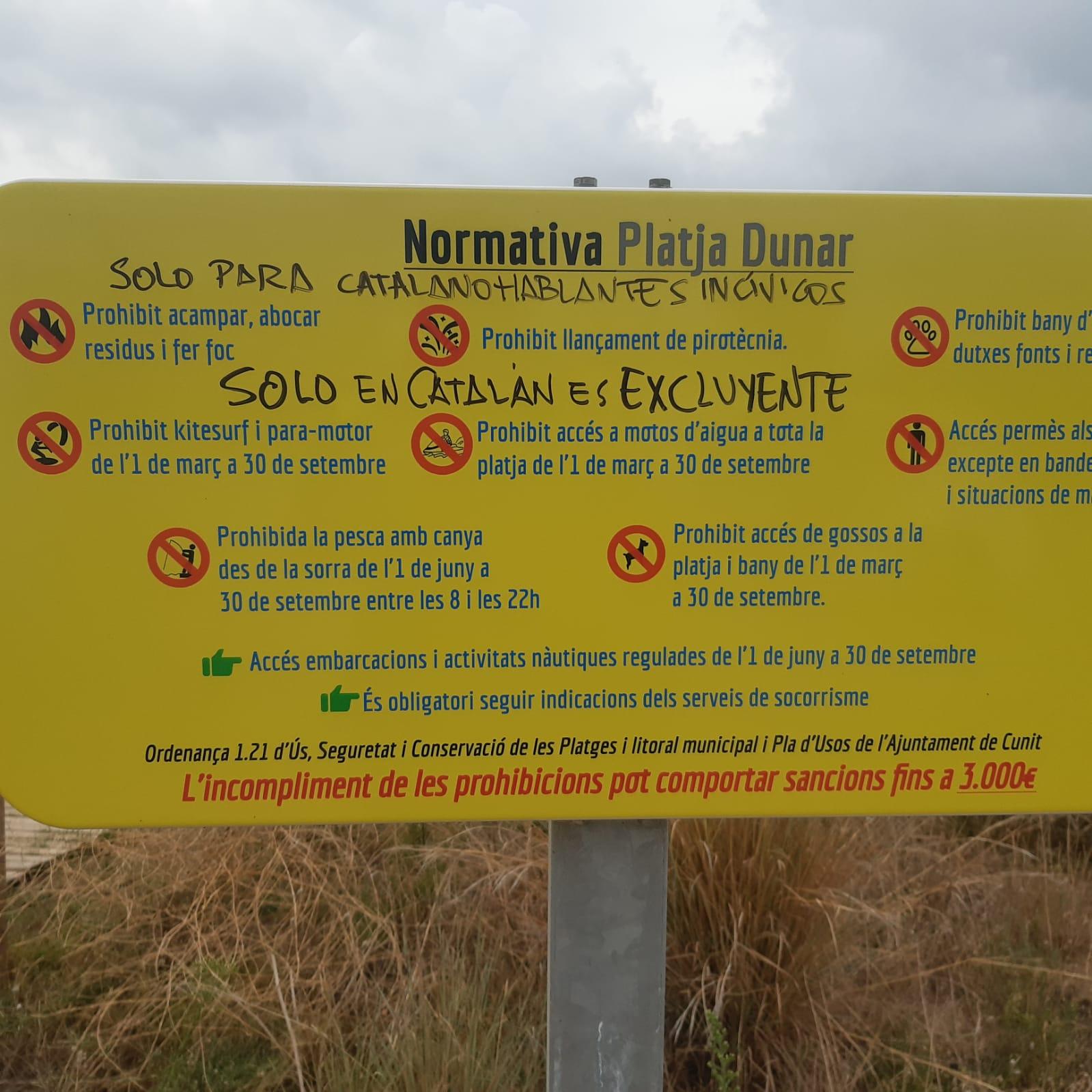 Read more about the article Identificat l'infractor dels cartells de la platja